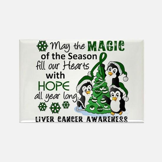 Holiday Penguins Liver Cancer Rectangle Magnet