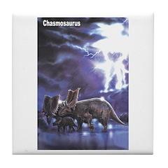 Chasmosaurus Dinosaur Tile Coaster