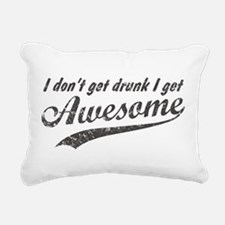 Vintage I Get Awesome Rectangular Canvas Pillow