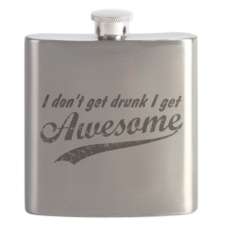 Vintage I Get Awesome Flask