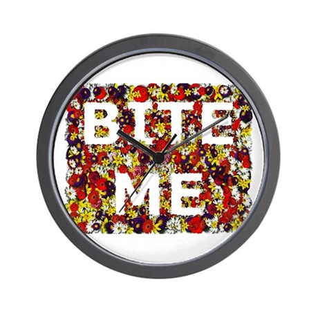 Bite Me (design) Wall Clock