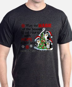 Holiday Penguins Lung Cancer T-Shirt