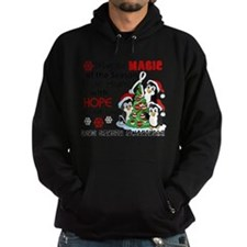 Holiday Penguins Lung Cancer Hoodie