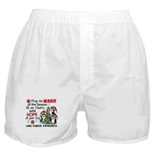 Holiday Penguins Lung Cancer Boxer Shorts