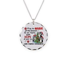Holiday Penguins Lung Cancer Necklace