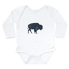 Buffalo Long Sleeve Infant Bodysuit