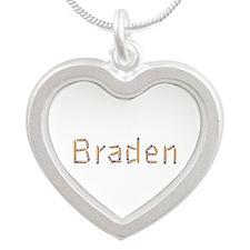 Braden Pencils Silver Heart Necklace