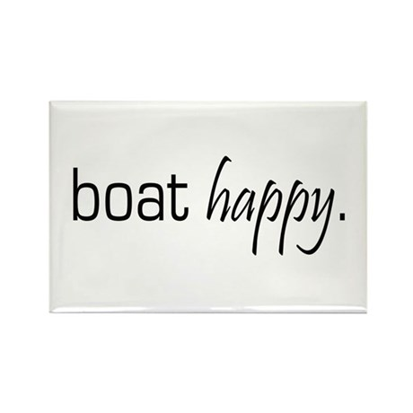 Boat Happy Rectangle Magnet