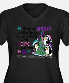 Holiday Penguins Thyroid Cancer Women's Plus Size