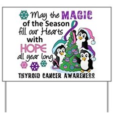Holiday Penguins Thyroid Cancer Yard Sign
