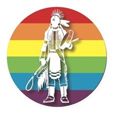 The Gay Indian Round Car Magnet