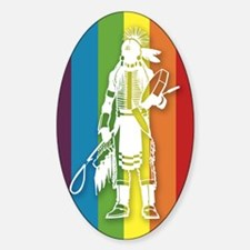 The Gay Indian Sticker (Oval)