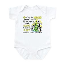 Holiday Penguins Testicular Cancer Infant Bodysuit