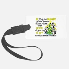 Holiday Penguins Testicular Cancer Luggage Tag