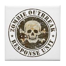 Zombie Outbreak Response Unit Tile Coaster