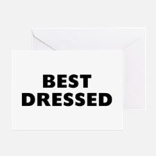 Best Dressed Greeting Card
