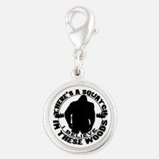 Believe in the Sqautch Silver Round Charm