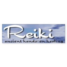 Reiki Hands-On Healing Bumper Car Sticker