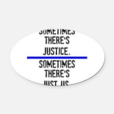 Justice Oval Car Magnet