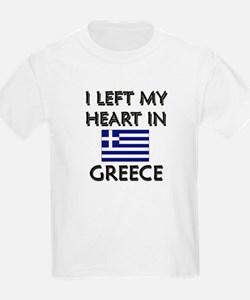 I Left My Heart In Greece Kids T-Shirt