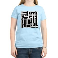 Crossword Puzzle Women's Pink T-Shirt