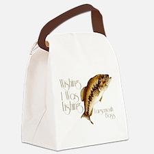 wishingiwasfishing.png Canvas Lunch Bag