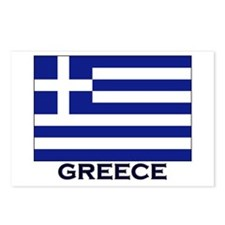 Greece Flag Gear Postcards (Package of 8)