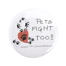 """Pets Fight Too 3.5"""" Button"""
