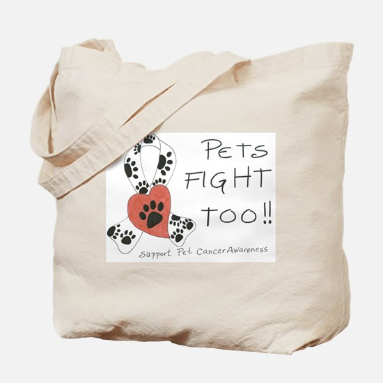 Pets Fight Too Tote Bag