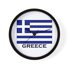 Greece Flag Gear Wall Clock