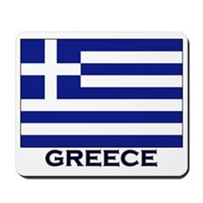 Greece Flag Gear Mousepad