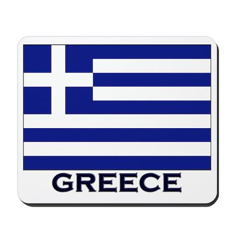 Greece Flag Gear Mousepad