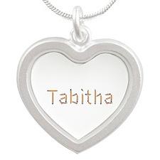Tabitha Pencils Silver Heart Necklace