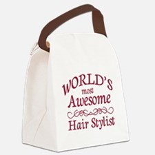 Awesome Hair Stylist Canvas Lunch Bag