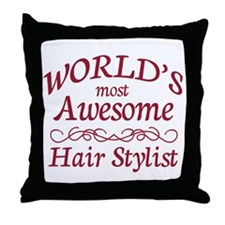 Awesome Hair Stylist Throw Pillow
