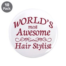 "Awesome Hair Stylist 3.5"" Button (10 pack)"