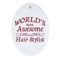 Awesome Hair Stylist Ornament (Oval)