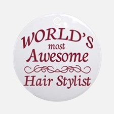 Awesome Hair Stylist Ornament (Round)
