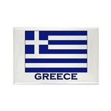 Greece Flag Merchandise Rectangle Magnet