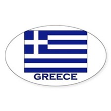 Greece Flag Merchandise Oval Decal