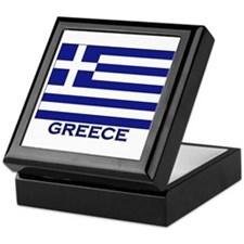 Greece Flag Merchandise Keepsake Box