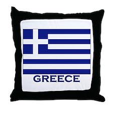 Greece Flag Merchandise Throw Pillow
