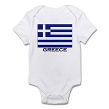Greece Flag Merchandise Infant Bodysuit