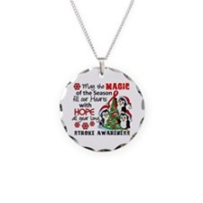 Holiday Penguins Stroke Necklace