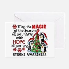 Holiday Penguins Stroke Greeting Card