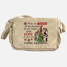 Holiday Penguins Stroke Messenger Bag