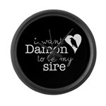 I Want Damon to be My Sire Large Wall Clock
