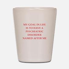 psych joke Shot Glass