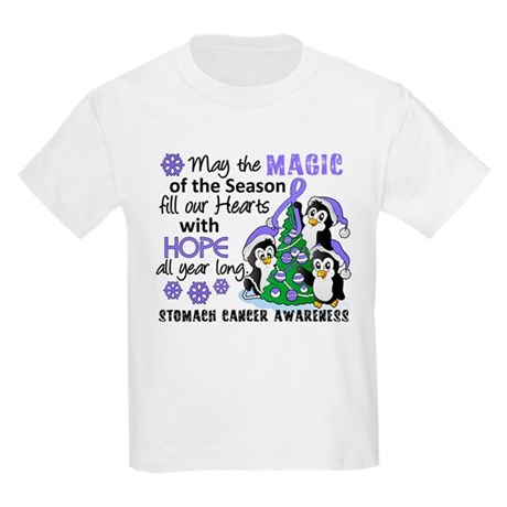 Holiday Penguins Stomach Cancer Kids Light T-Shirt