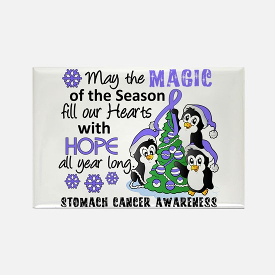 Holiday Penguins Stomach Cancer Rectangle Magnet